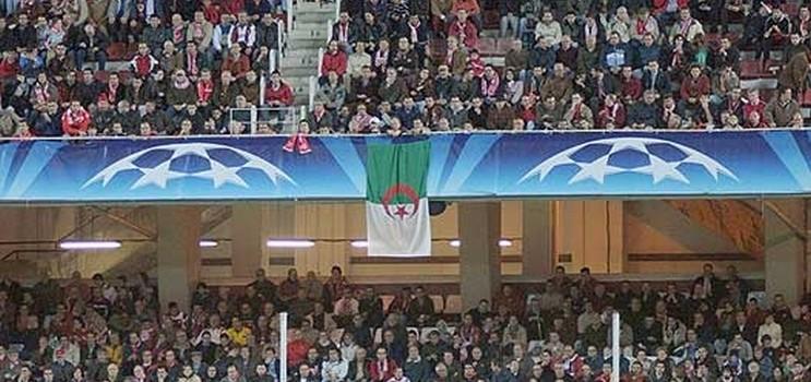 drapeau algerien stade
